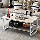 テーブル ローテーブル リビングテーブル 木製 オープン収納 リビングテーブル センターテーブル 長方形 幅80cm ナチュラルメイプル