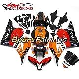Sportfairings オートバイ バイク外装パーツ 適合 ホンダ CBR600RR CBR600-RR F5 09-12 2009 2010 2011 2012 年 オレンジと赤と黒 バイク カウル