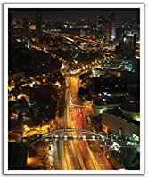 JPロンドンPOSLT0042 uStrip Lite取り外し可能な壁デカールステッカー壁画の街の灯夜、19.75インチ×24インチ