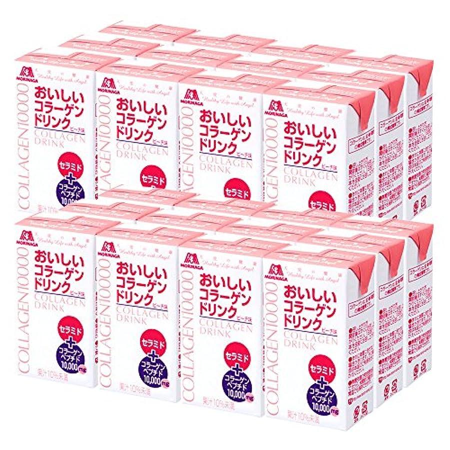 象出会い略す森永製菓 おいしいコラーゲンドリンク 125ml×24本 約24日分 ピーチ味