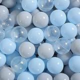 PlayMaty Play Ball Plastic Colorful Pit Balls - 2.36inches - Crush Proof, No Sharp Edges, Non Toxic, Phthalate & BPA Free - U