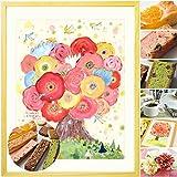 誕生日プレゼント 女性 母 お礼の品 アートと焼き菓子セット 花 スイーツ お菓子 退職祝い 母の日ギフト 母親 送別会 30代 40代 50代 60代