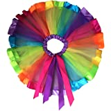 PIXNOR Girl's Children Kids Laye Rainbow Tutu Skirt