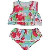 bilison Little Girl Floral Beach Bikini Set Tow-Pieces Swimsuit Infant Baby Summer Sunsuit