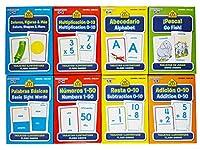 [スクール ゾーン]School Zone Spanish English Bilingual Flash Cards 8Pack (Addition, Subtraction 010, Multiplication 020, [並行輸入品]