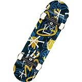 スケボー コンプリート スケートボード 完成品 8.0×31.5 インチ 競技用スペック 初心者 上級者 子供 大人用 コンプリートデッキ スケートレンチ付き 一年保証付き