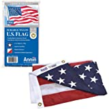 Annin Flagmakers Model 2460 American Flag 3x5 ft. Nylon SolarGuard NYL-Glo, 100% Made in USA with Sewn Stripes, Embroidered S