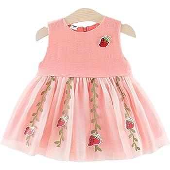 abe52477fbd34 Tasurio(タスリオ) イチゴ柄 ベビー服 女の子 ワンピース ドレス ノースリーブ 可愛い チュール チュニック フォーマル 夏