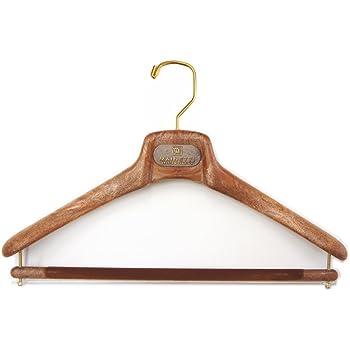 (マイネッティ) MAINETTIサルトリアーレ スーツ用 ハンガー 40cm5本セット ブラウン