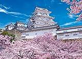 500ピース ジグソーパズル めざせ! パズルの達人 姫路城の満開桜―兵庫(38x53cm)