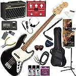 FENDER エレキベース 初心者 入門 メキシコ製 クラシックでエレガントなスタイルのジャズベース VOX Pathfinder BASS10とVOXのマルチエフェクターが入ってる完璧21点セット Player Jazz Bass/BLK/PF(ブラック/パーフェロー指板)