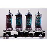 蛍光表示管モジュラー時計 IV-4 (4桁、ケース付き、時計ハンダ付けキット, v2.3)VFD Modular Clo…