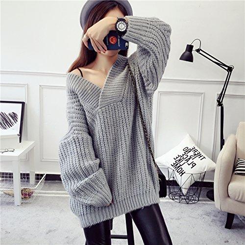 Better-Meレディース セーター ニット Vネック ゆったり ざっくり 長袖  セクシー おしゃれ 3カラー
