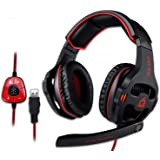 KLIM Mantis - Gaming Headphones - USB Headset with Microphone - for PC, PS4, Nintendo Switch, Mac, 7.1 Surround Sound - New 2