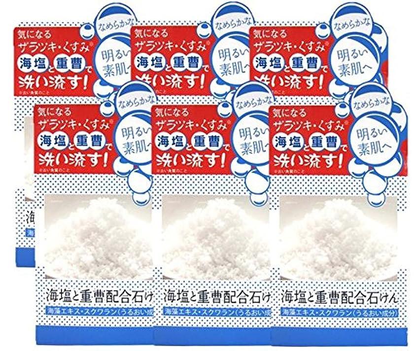 インテリア乳スノーケルユゼ 海塩と重曹配合石けん 100g×6個セット