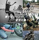 ZEES 両足セット 膝パッド 膝パット ニーパッド 膝あて 膝プロテクター ウェットスーツ素材で濡れても安心 スケボー バイク 膝をつくお仕事にも最適