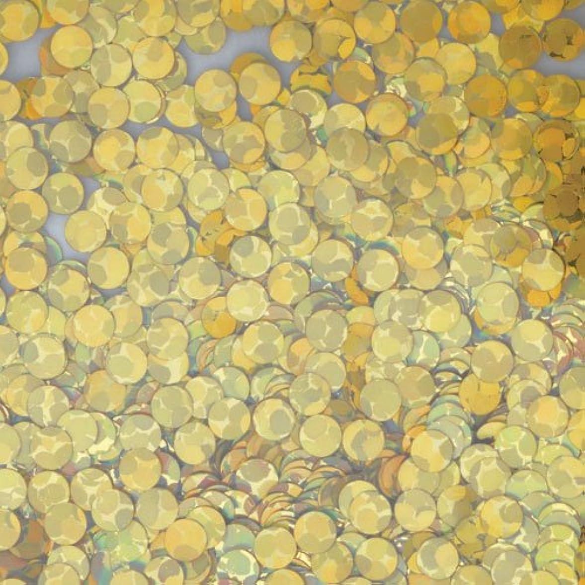 マージ抑圧する高価なピカエース ネイル用パウダー 丸ホロ 2mm #875 ゴールド 0.5g