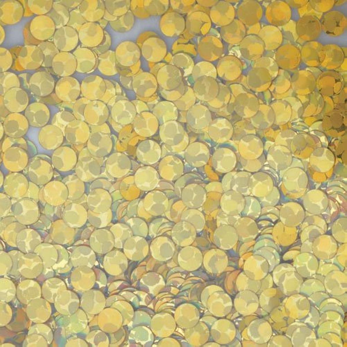 信念ラフト分散ピカエース ネイル用パウダー 丸ホロ 2mm #875 ゴールド 0.5g