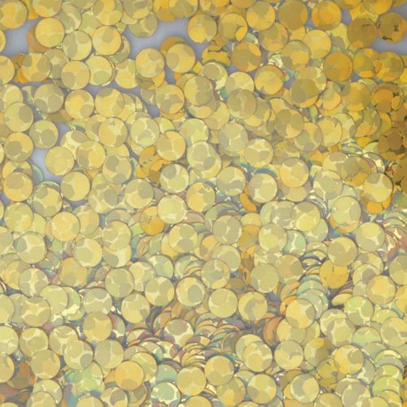 採用食事試用ピカエース ネイルアート 丸ホロ 1mm #873 ゴールド 0.5g