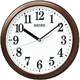 セイコークロック(Seiko Clock) 掛け時計 茶メタリック 直径28.0x4.6cm 電波 アナログ コンパクトサイズ KX256B