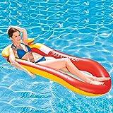 スイミングプールフローティングロー、フローティングラウンジチェアフローティングベッドハンモック、インフレータブル玩具、大人に適しビーチホリデーファミリー向け夏のパーティー屋外ウォーターエンターテイメント