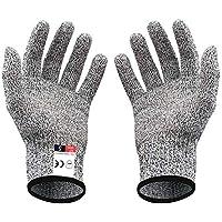 (二双組) 軍手 リガー手袋 作業用手袋 切れない 防刃耐切創 ワークマン DIY 手袋 料理用 防災用品 安全防護 グレ
