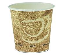 Single Sided Poly用紙ホットカップ、4オンス、Mistiqueデザイン
