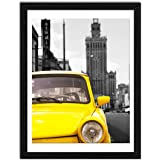 ElegartGallery 12x16 Picture Frames to Display 11x14 Documents with Mats Black Real Wood Photo Frames Wall Art Decorative for