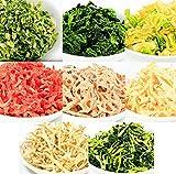 国産 乾燥野菜 8種類 セット (国産 こだわり 素材 使用 乾燥やさい) (れんこん ごぼう にんじん ねぎ たまねぎ ほうれんそう キャベツ 大根の葉) (吉良食品 干し野菜)
