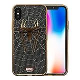 MARVEL Design スマートフォン・ケース アベンジャーズ キャラクターの スマホケース 軽量 ソフトTPUにメタリック塗装を施した重厚感あふれるデザイン iPhone X 対応 スパイダーマン