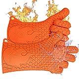 耐熱バーベキュー用シリコン製手袋 - エコグリップのオリジナル フリーサイズ (インポート)