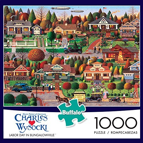 Labor Day in Bungalowville by Charles Wysocki - 1000 Piece Jigsaw Puzzle by Buffalo Games Buffalo Games