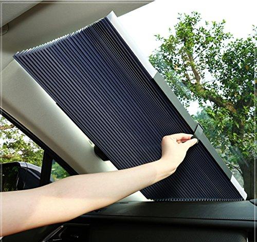 サンシェード 車 遮光 遮熱 自動伸縮 自動折畳 プライバシーを保護する 車...