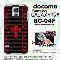 SC04F カバー GALAXY S5 SC-04F ケース ギャラクシー S5 ソフトケース ゴシック 黒×赤 nk-sc04f-tp1010