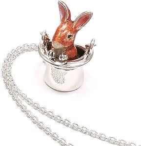 [アンティエーレ] entiere ネックレス ペンダント レディース シルバー925 帽子 ウサギ ブラウン