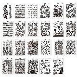 Ewparts 23 枚 PP 型紙スクラップブッキング専用テンプレート のプラスチック製図の絵画ステンシルスケールのテンプレートセット、 スクラップブッキングDIYアルバムアクセサリ カード・クラフト・プロジェクト