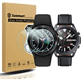 Suoman 3-Pack for Samsung Galaxy Watch 3 45mm Screen Protector Tempered Glass for Galaxy Watch 3 (45mm) [Anti-Scratch] [2.5D