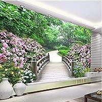 カスタム家の装飾壁画3D部屋の壁紙公園の風景庭の設定写真壁紙用壁フローリング-360X250Cm