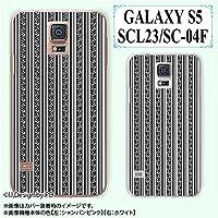 docomo GALAXY S5 docomo SC-04F / au SCL23 兼用 スマホケース カバー ツタ1 蔦 白黒