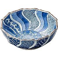 山下工芸(Yamasita craft) 染付捻り祥瑞 刺身鉢 15×15×5.5cm 11019030
