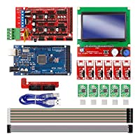CNC 3D プリンタ キット Arduino Mega 2560 R3 + RAMPS 1.4 Controller + LCD 12864 + 6 Limit Switch Endstop + 5 A4988 Stepper ドライバ [並行輸入品]