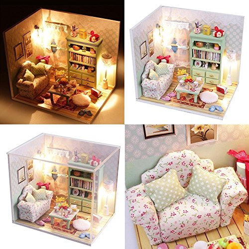 【 Alnair 】 ドールハウス シリーズ 家具 材料 手作りキットセットミニチュア ままごと にも (M012 Family Hall)