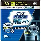 ポイズ メンズパッド 薄型ワイド 中量用80cc 15.5×25cm 18枚 【男性用 軽い尿モレ対策】