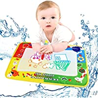 Kids Educational Toy, Franterd 4Color Water Drawing Mat Board &Magic Pen Doodle Toy Gift 46X30cm