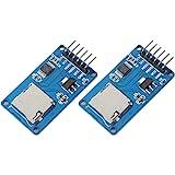 DORLIONA 2pcs Micro SD Card Module Storage Board 6-pin TF Card Memory Adapter Reader Module SPI Interface fit Arduino