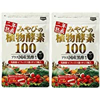 二年熟成 みやびの植物酵素100 2ヶ月分 国産黒酢配合 新鮮な野菜や果物や野草を合計100種類