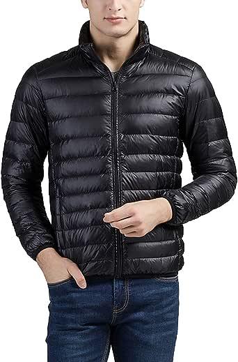 ダウンジャケット メンズ コート ジャケット ウルトラライト ダウン コート 軽量 防風 防寒 コート 秋冬 黑 M