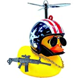 MuYuDaDi MYDD Lights Christmas Duck Cart Duck Cool Companion Toy Squeaky Glasses Duck (Stars and Stripes + Little Yellow Duck