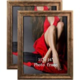 Artsay Rustic Distressed Poster Picture Frames Document Frame Pack, Composite Wood, 11x14