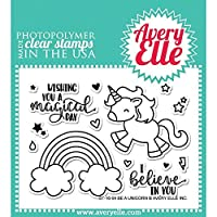 Avery Elle Clear Stamp Set 4x3-Be A Unicorn [並行輸入品]